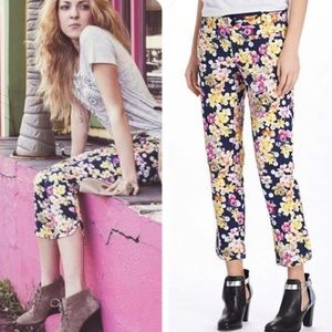Cartonnier Anthropologie Floral Cropped Pants 8